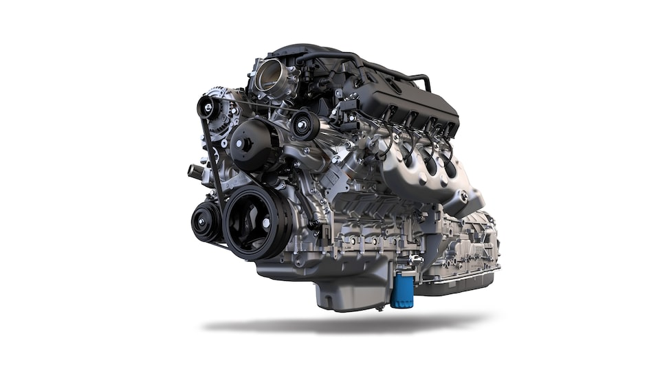 Engine For The 2020 Sierra AT4 Off Road Truck.
