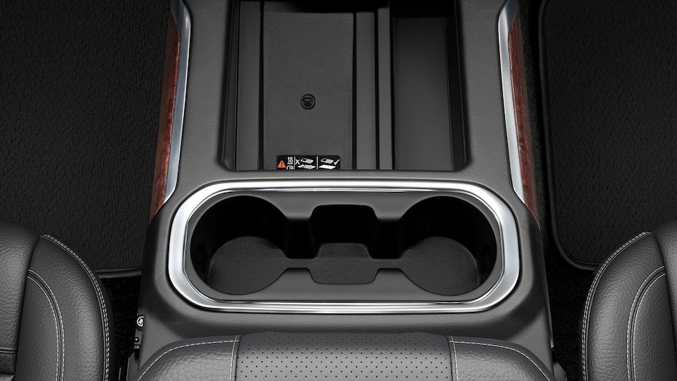 Sierra 1500 Pickup Truck: Wireless Charging & Cup Holder.