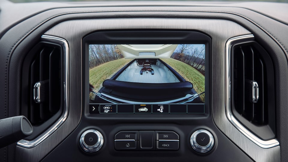 GMC Sierra HD Pickup Truck: Bed Camera View.