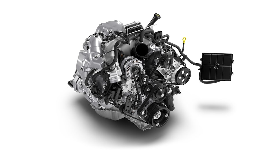 Available 6.6L Duramax Turbo Diesel V8 Engine For The 2020 GMC Sierra HD.