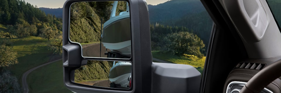 2020 Sierra Heavy Duty Pickup Truck: Trailer And Blind Spot Mirrors.