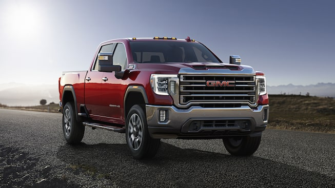 2020 GMC Sierra Heavy Duty Pickup Truck: Front Side View.