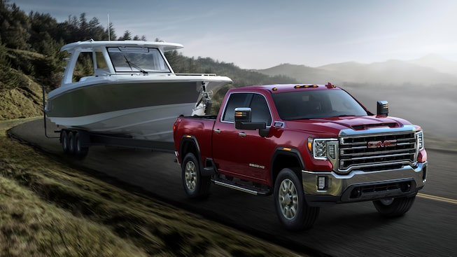 2020 GMC Sierra HD Pickup Truck: Towing A Boat.