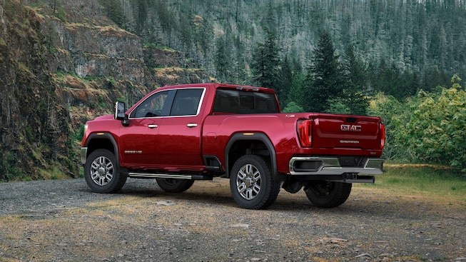 2020 GMC Sierra Heavy Duty Pickup Truck: Rear Side View.