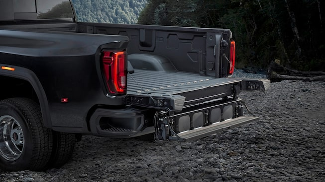 The six-function Multipro Tailgate available on the 2020 Sierra Heavy Duty.