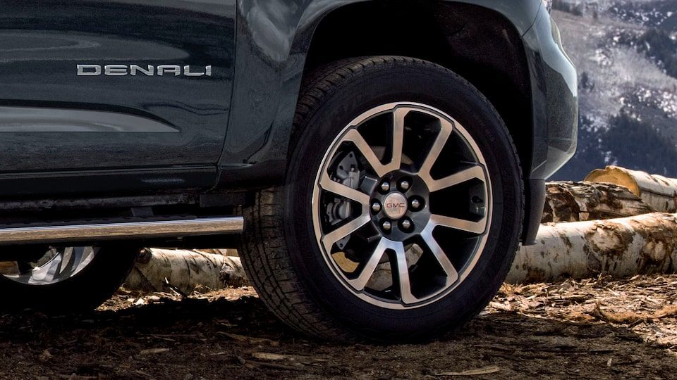 2021 Canyon Denali wheels featuring the Denali insignia.