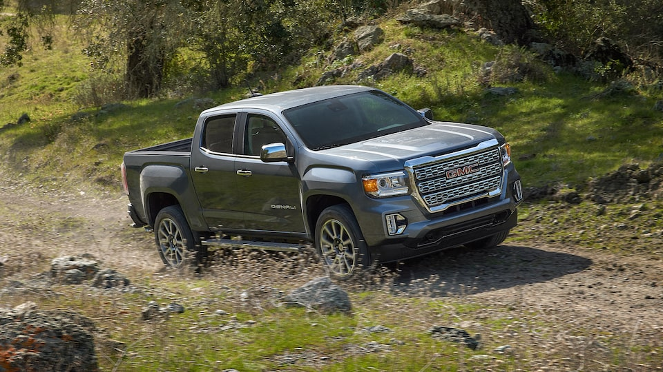 2021 GMC Canyon Denali driving off-road.