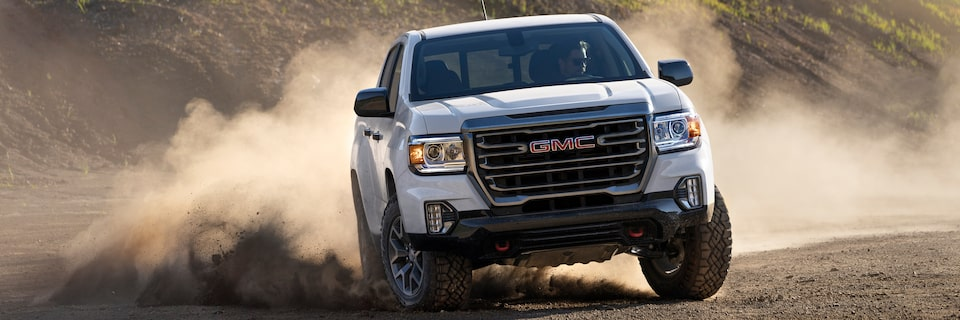 2021 GMC Canyon driving off-road.