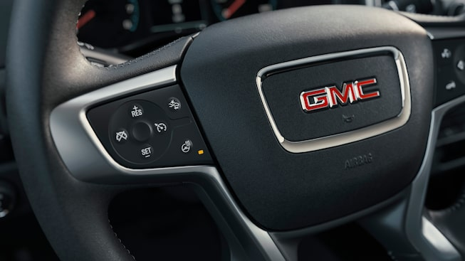 2021 GMC Canyon steering wheel.