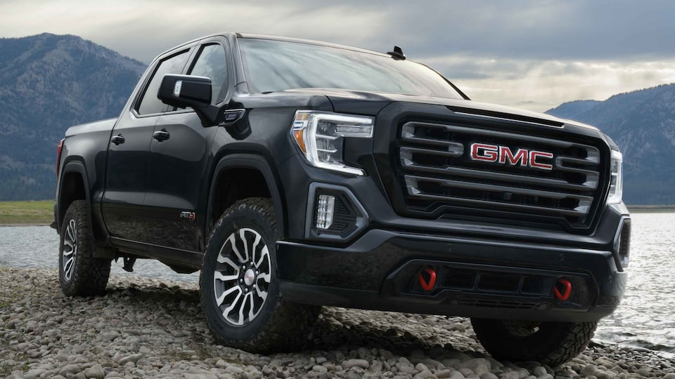 2021 GMC Sierra 1500 AT4 on the road.