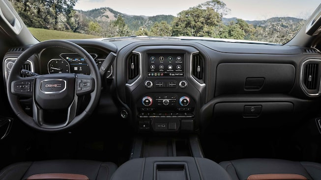 2021 GMC Sierra HD AT4 front interior.