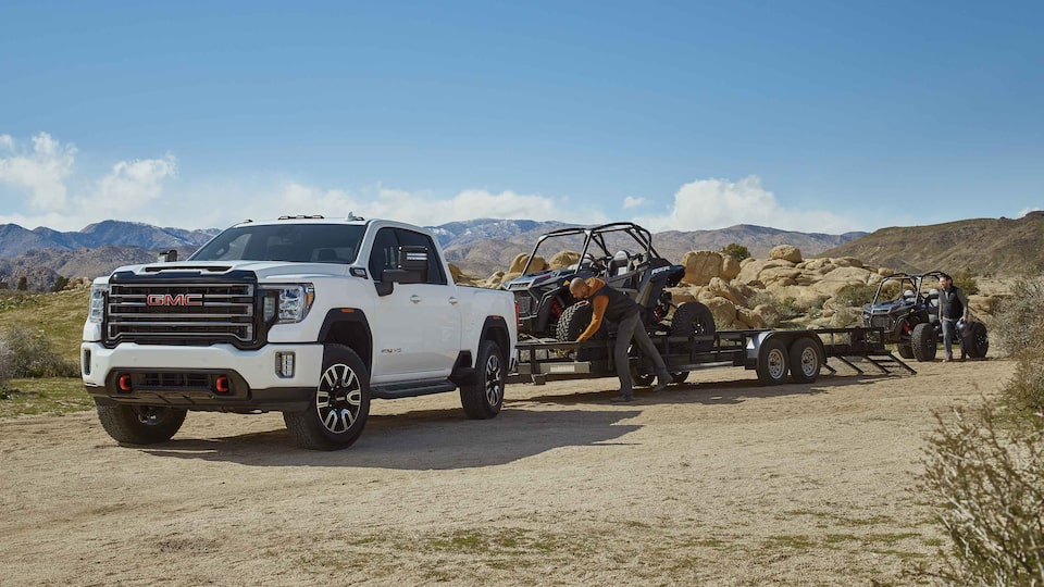 2021 GMC Sierra HD AT4 driving and trailering off-road.