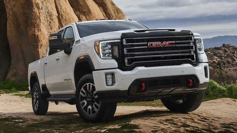2021 GMC Sierra HD AT4 parked outdoors.