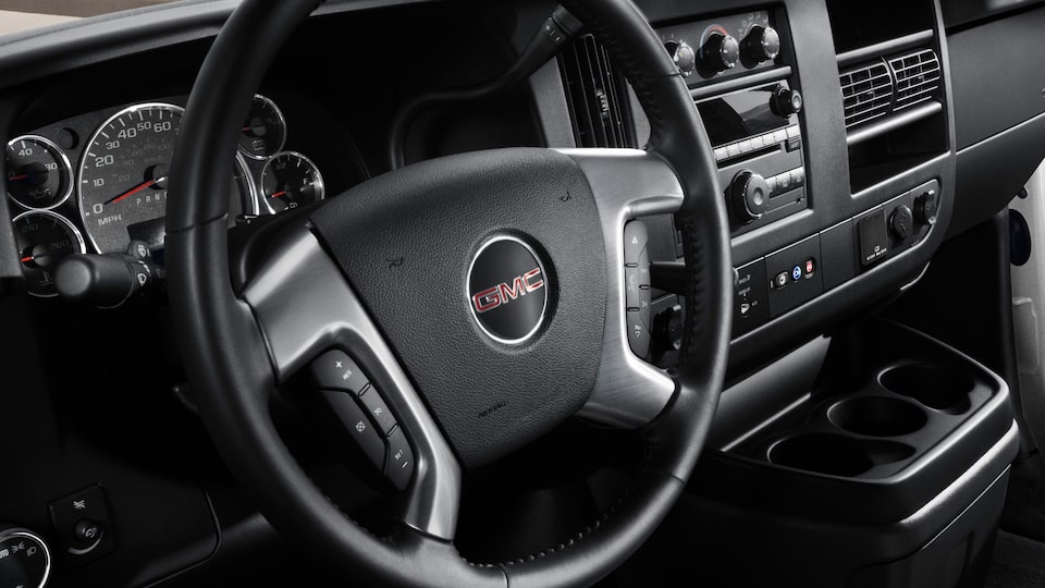 GMC Savana Cargo Van technology: available OnStar 4G LTE with a built-in Wi-Fi hotspot.