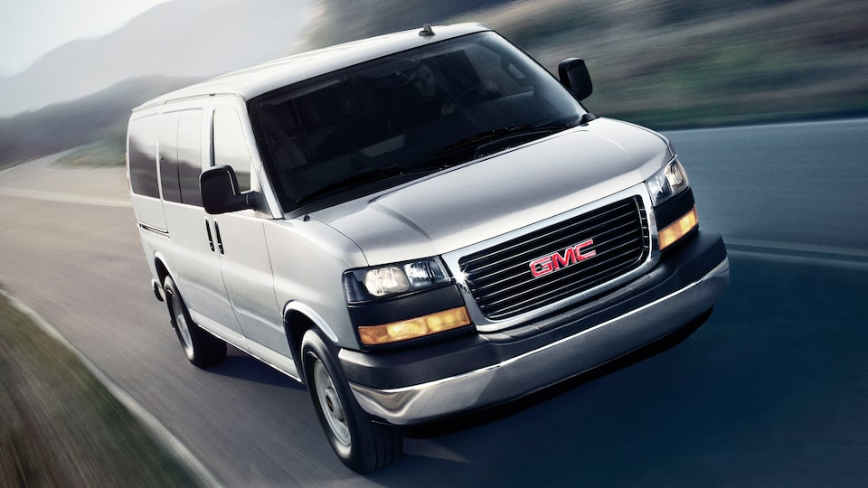 The GMC Savana Passenger Van with Hill Start Assist.