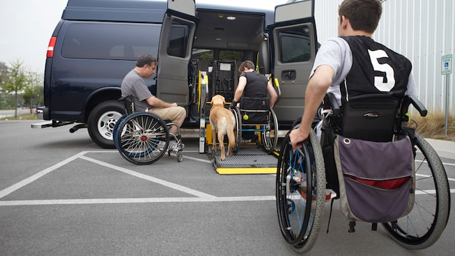 The Savana Passenger easily coverts to include a wheelchair lift option.