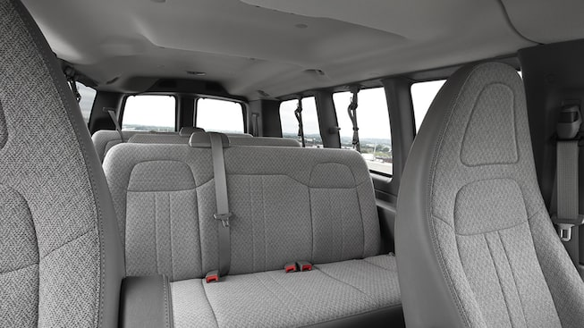 The Savana Passenger Van has seating and cargo flexibility.