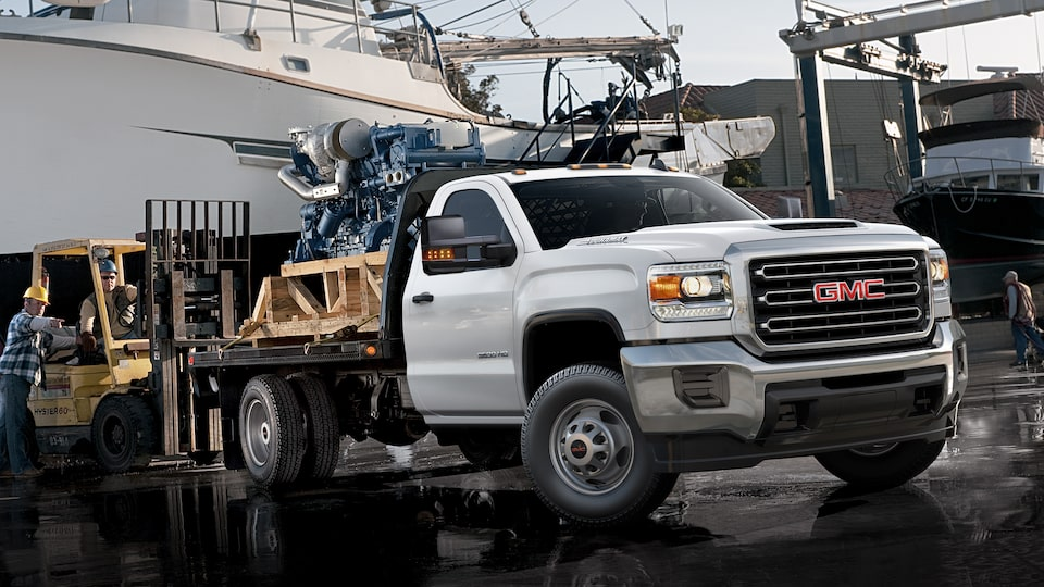 GMC Sierra 3500HD Chassis Cab with Hill Start Assist feature.