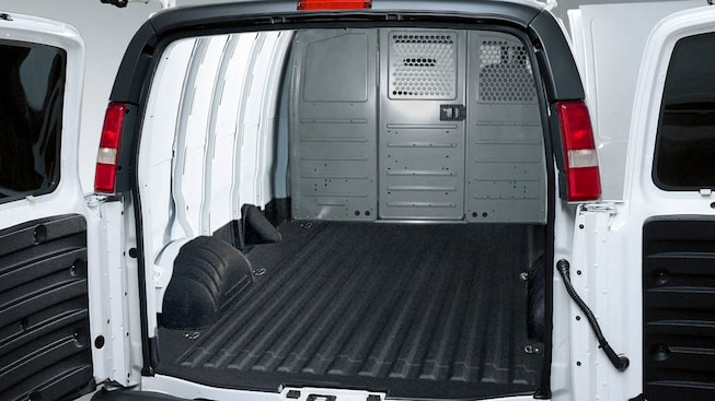 2020 GMC Savana Cargo Van: Spray-In Liner.