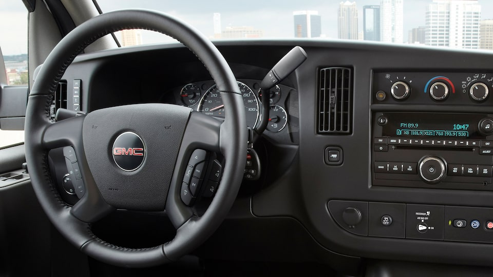 GMC Savana Cutaway Van technology: available OnStar 4G LTE with a built-in Wi-Fi hotspot.