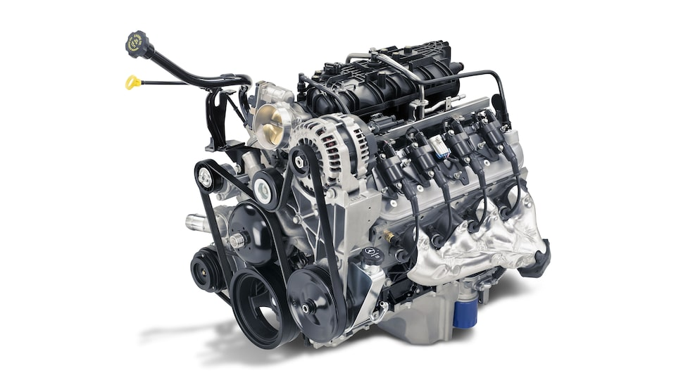 The Savana Cutaway van's Vortec 6.0L gaseous V8 engine.