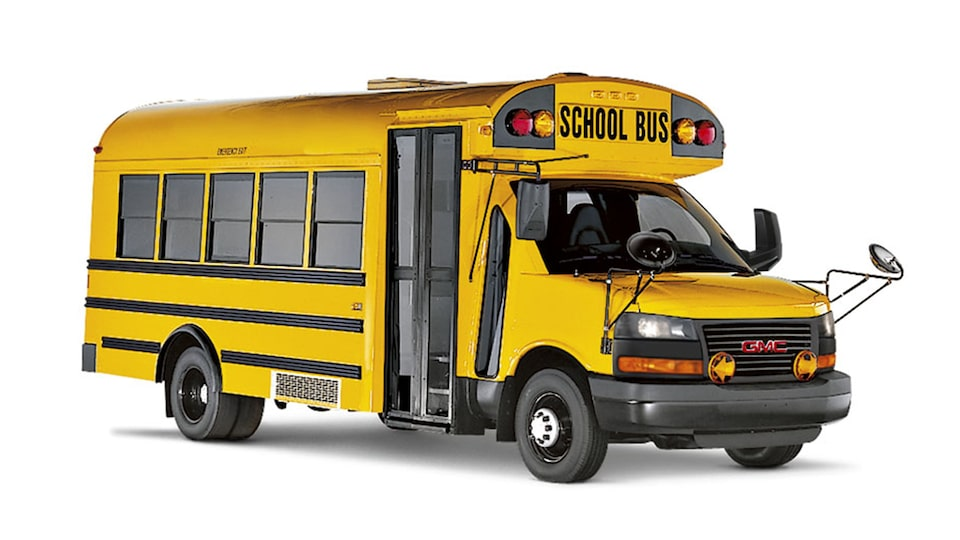 2020 GMC Savanna Cutaway with school bus upfit.