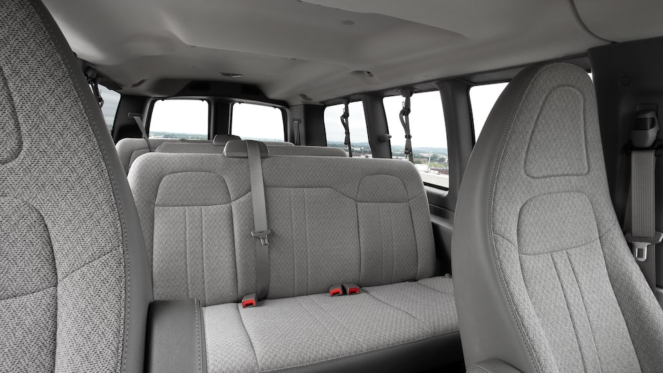 2020 Savana Passenger Van: Interior Cabin With Seating For Up To 15 People.