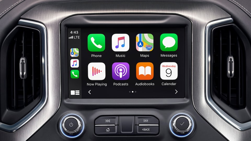 The 2020 GMC vehicles feature Apple CarPlay compatibility.
