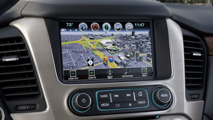 2020 GMC vehicle offers Infotainment System with built-in navigation.