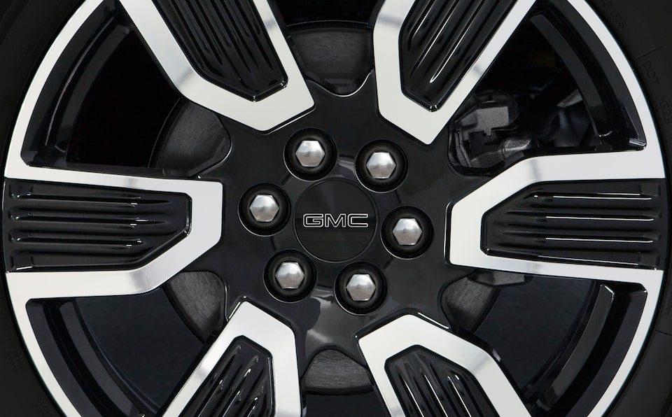 GMC Acadia black and white wheel.