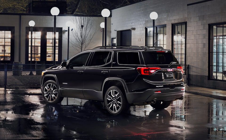 Exterior back side profile of the special edition GMC Acadia.