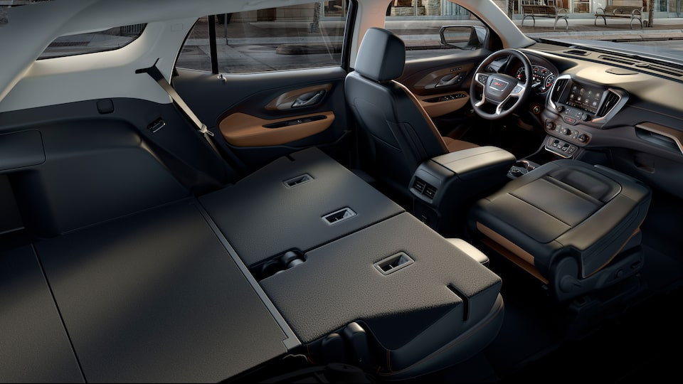 2019 Terrain compact SUV's front-to-back load floor.