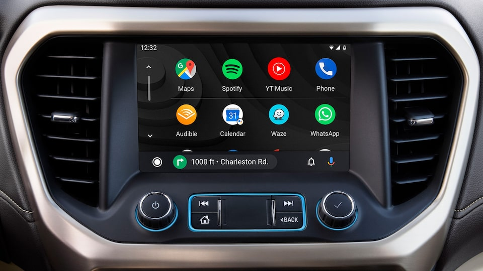 GMC Acadia AT4 SUV: Android Auto System With Google Maps Navigation.