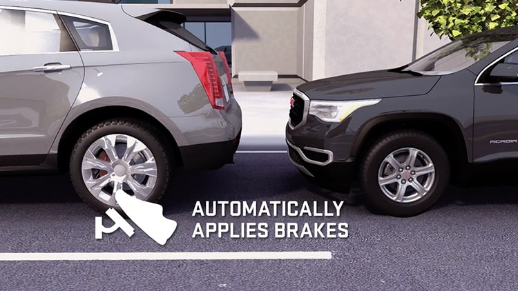Acadia Denali Luxury SUV: Automatically Applies Brakes Safety Feature.