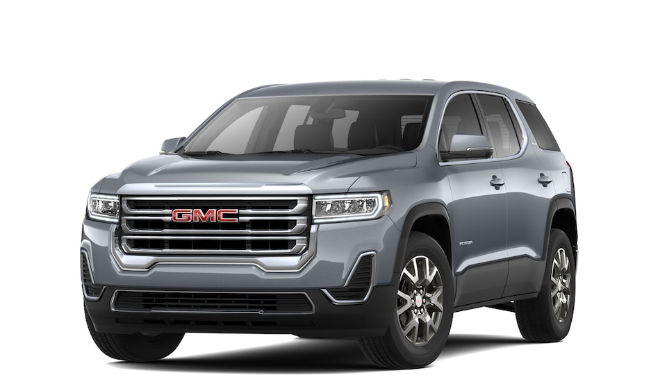 Exterior of the 2020 GMC Acadia SLE.