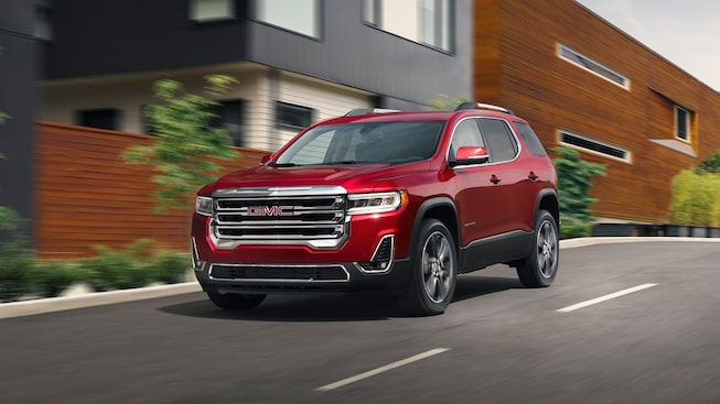 2020 GMC Acadia Mid-Size SUV: Driving Down The Street.