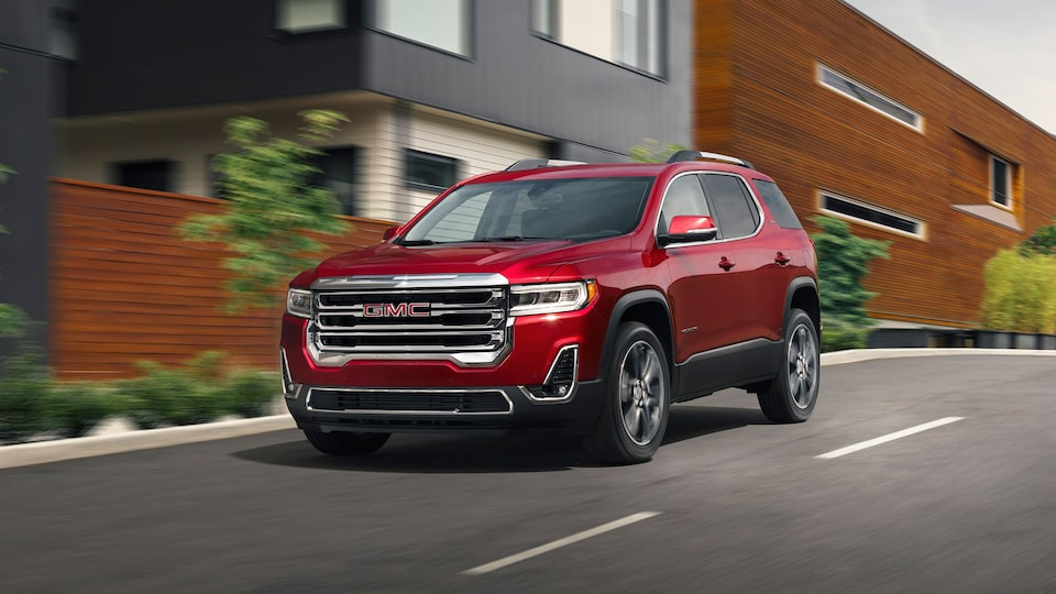 2020 Acadia Mid-Size SUV: Driving Down The Street.