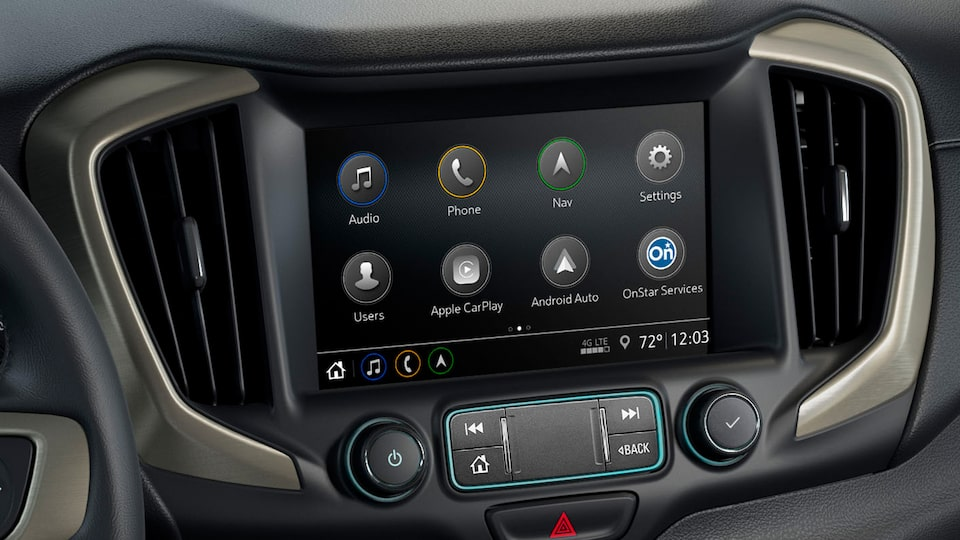 2020 Terrain Interior Technology Touch Screen.