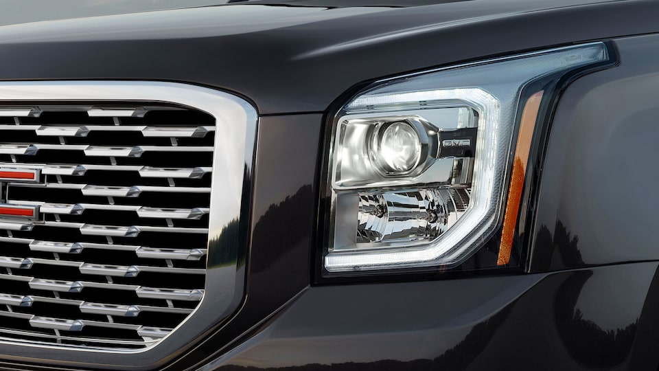 2020 GMC Yukon Denali Full Size SUV Headlight Exterior Feature.