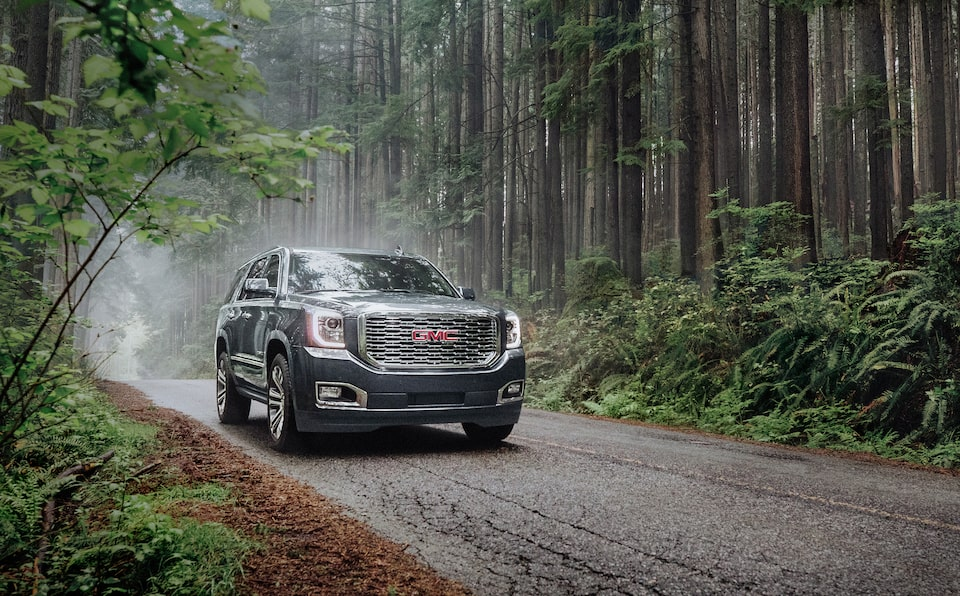 2020 GMC Yukon Denali Ultimate Full Size SUV Front Shot.