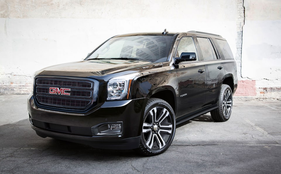 2020 Yukon Full Size SUV Special Edition Graphite Front Angle.