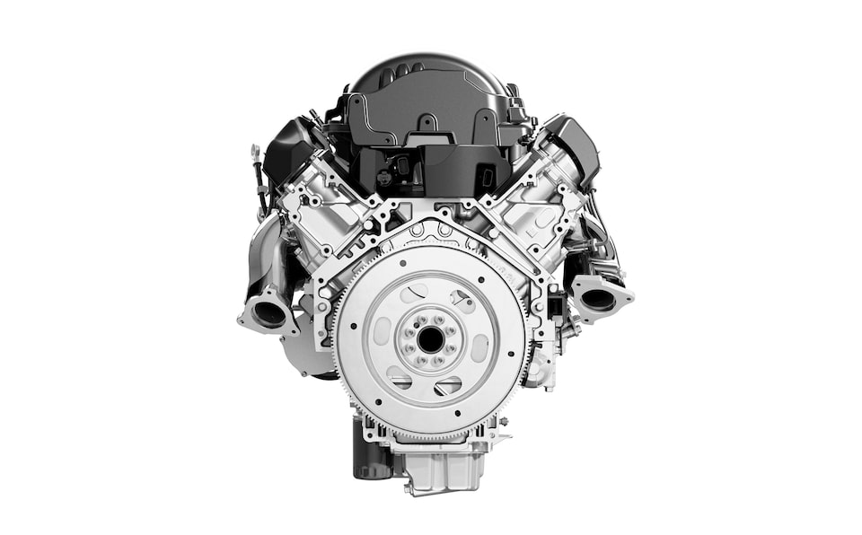 GMC Yukon SLE/SLT full-size SUV Graphite Performance Edition Engine.