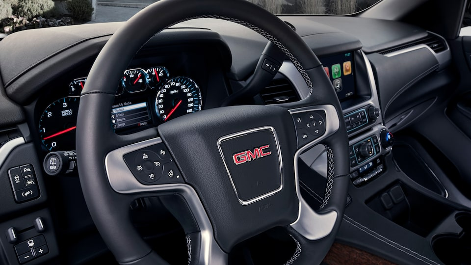 2020 Yukon SUV Interior Features Steering Wheel.