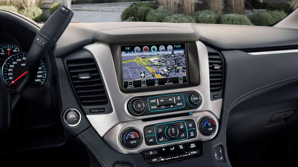 GMC Yukon Denali SUV Navigation Technology.