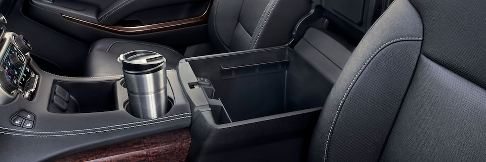 2020 Yukon Denali Full Size SUV Center Console Interior.