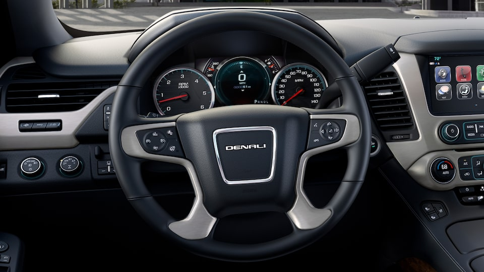 2020 GMC Yukon Denali Full Size SUV Steering Wheel Interior  Features.