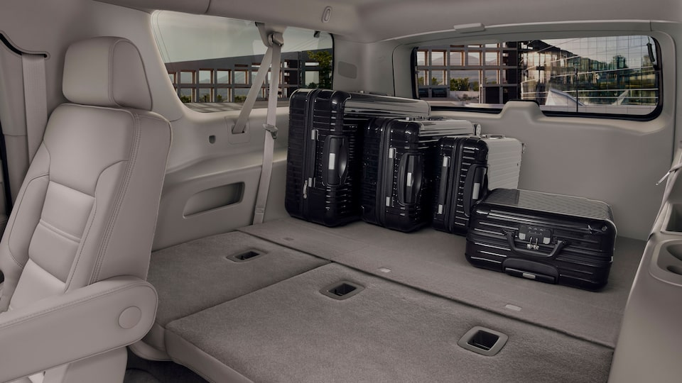 2020 Yukon Denali Full Size SUV Storage Solutions Interior.
