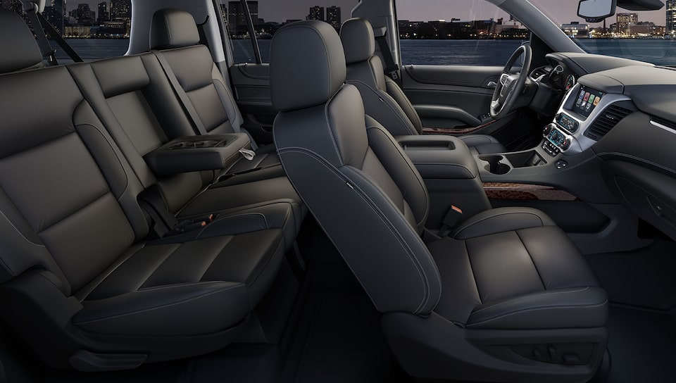 2020 GMC Yukon full-size SUV Interior Features.
