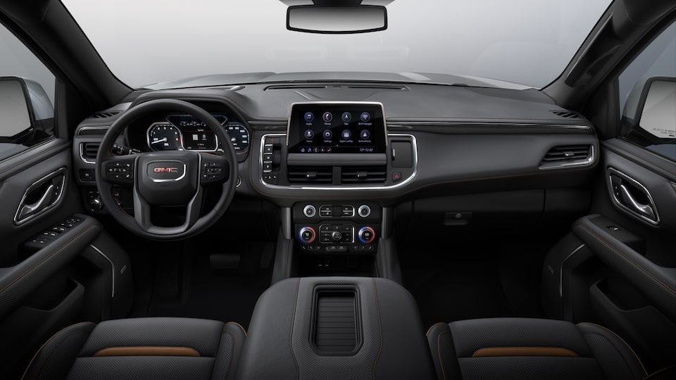 2021 GMC Yukon AT4 interior dashboard.