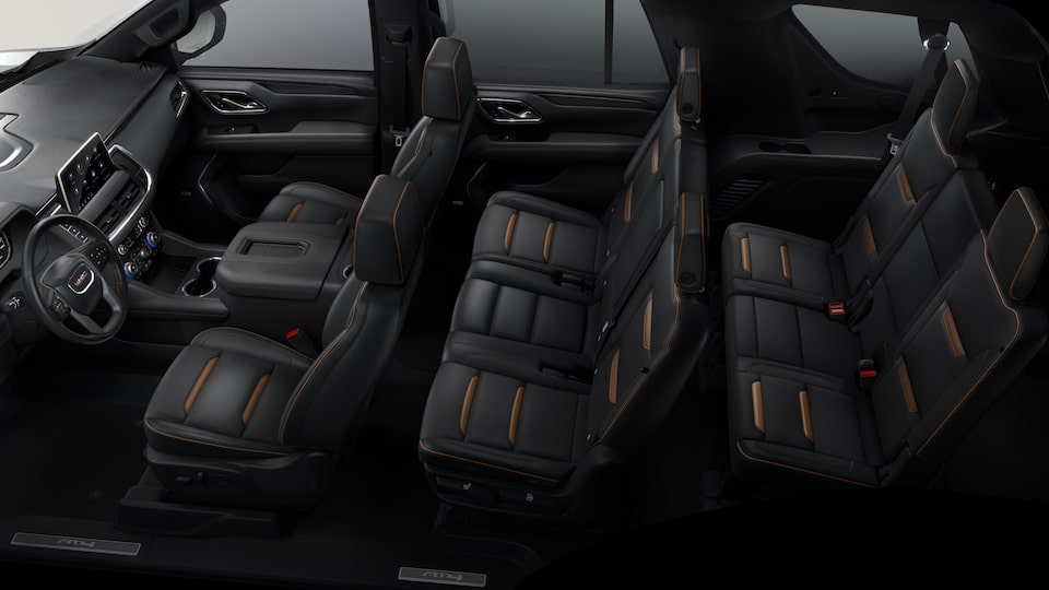 2021 GMC Yukon AT4 interior seats top view.